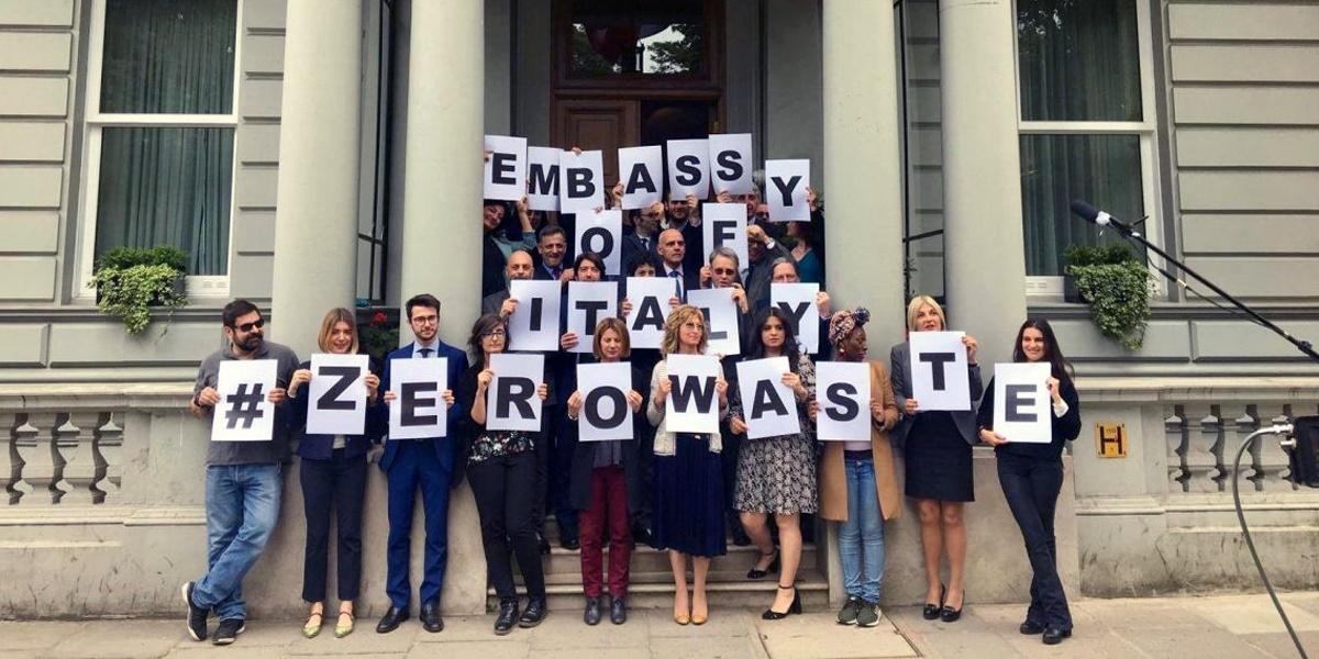 Ambasciata italiana a Londra Zero Waste una nuova generazione green